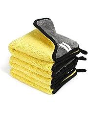 WORKPRO Microvezeldoeken, poetsdoek, professionele poetsdoek, droogdoek, 800 g/m², microvezel-reinigingsdoek, 30 x 30 cm, voor het huishouden, auto, commercieel gebruik, microvezeldoek, 3-delig