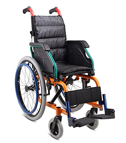 porting Pediatric Wheelchair for Kids with Folding Back and Seat Cushion (Pediatric Wheelchair)