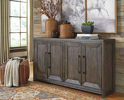 Rickwiner Casual Grayish Brown Color Wood Accent Cabinet by FurnitureMaxx