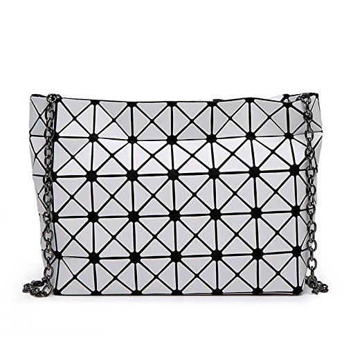 Bag 8 Bag Silver Handbag Chain 5 Color Crossbody Clutch Bag Women Geometric Matt Lattic Rqw857Oxx