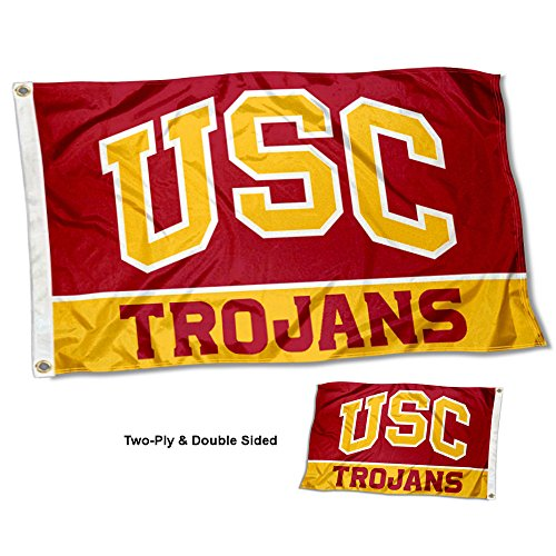 Flag Trojans Tailgate Usc (USC Trojans Double Sided Flag)