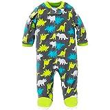Little Me Dino Blanket Sleeper Warm Fleece Footie Footed Pajamas Grey 9 Months