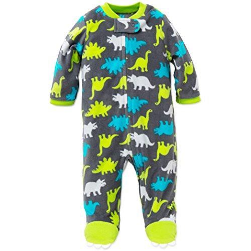 Little Me Dino Blanket Sleeper Warm Fleece Footie Footed Pajamas Grey 3 Months