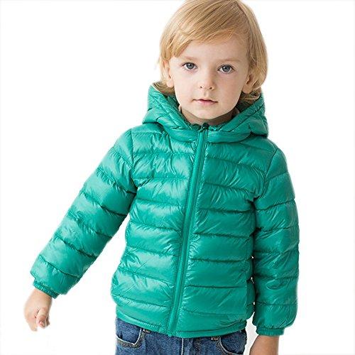 (marc janie Girls Boys' Lightweight Packable Hooded Down Puffer Jacket 18 Months Forest Green)
