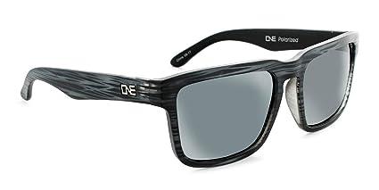 Optic Nerve, Mashup, Unisex Sunglasses - Matte Driftwood Grey Frame, Polarized Smoke with Silver Flash Lens