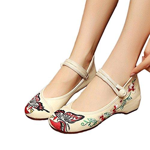 de Zapatos bordados de bordados estilo Zapatos Zapatos estilo YnxwZUn