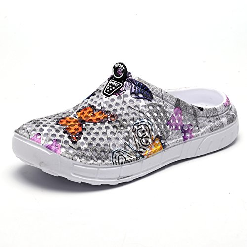Sandals Breathable Anti Slippers Women Walking Beach Butterfly Summer Shoes Shoes Shower Garden Footwear Slip Mesh Gray Clog WLLH Water tqg4w8t