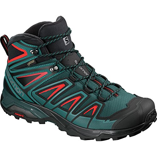 Salomon Men's X Ultra 3 MID GTX Trail Running Shoe, Reflecting Pond/deep Lagoon/high Risk red, 11.5 D US ()