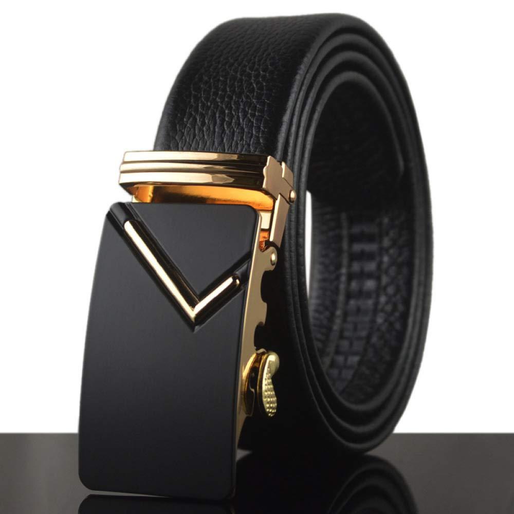 DENGDAI Leather Belt Mens Belt Belt Belt Length 100-135CM