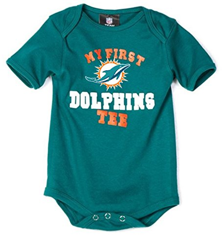Outerstuff Miami Dolphins My First Tee Bodysuit Onesie 12 Months