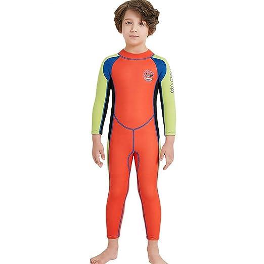 W&TT Niños Wetsuit para niños niñas 2.5 MM una Pieza de Cuerpo ...
