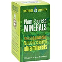 Natural Vitality Plant Sourced Minerals - 60 Vegan Capsules