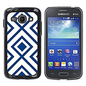 Be Good Phone Accessory // Dura Cáscara cubierta Protectora Caso Carcasa Funda de Protección para Samsung Galaxy Ace 3 GT-S7270 GT-S7275 GT-S7272 // White Pattern Vintage Wallpaper