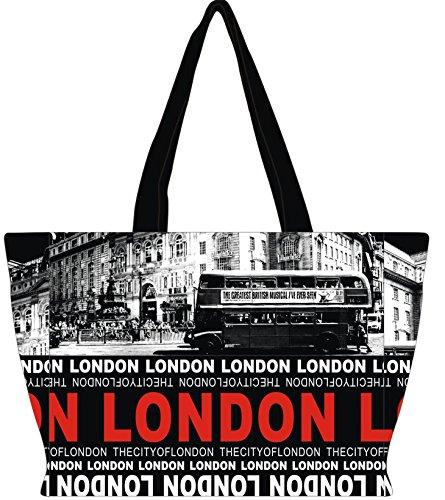 Robin Ruth London Souvenir Borsa–Holly Bus Nero/Rosso