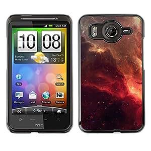 Caucho caso de Shell duro de la cubierta de accesorios de protección BY RAYDREAMMM - HTC G10 - Red Galaxy