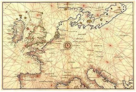 karte spanien frankreich deutschland Amazon.de: Buyenlarge Portolan Karte von Spanien, England