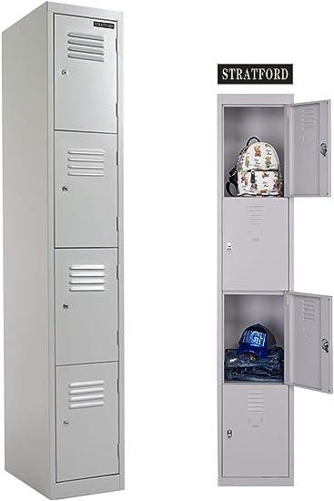 Metal lockers 2//4 door steel flatpack lockable ideal for staff room storage
