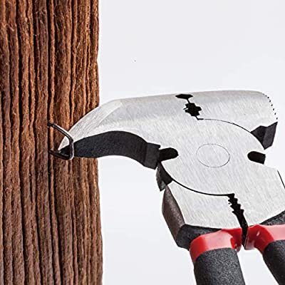 Bates- Pliers, Fencing Pliers, Fence Pliers, Fence Tool, Staple Puller, Multi Tool, Hand Tools, Nail Puller, Cutting Pliers, Cutting Wire, Pliers with Hammer Head, Stretching Wire Pliers, Wire Cutters