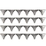 Owfeel 24pcs 25mm Antique Silver Corner Decorative Corner Box Corner Corner Pad Corner Protector