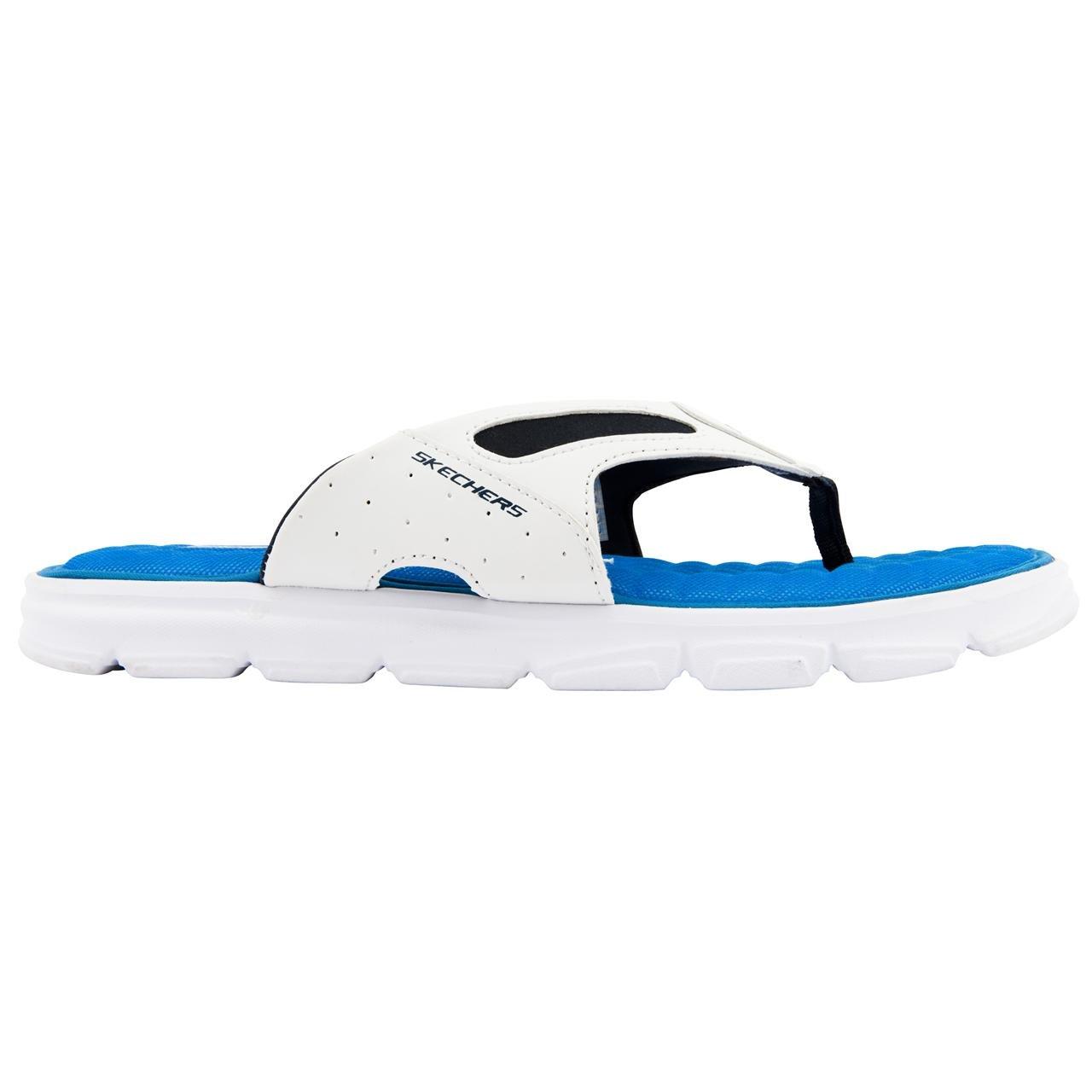 dfd845743d56 Skechers Mens Uprush - True Form White Blue Flip Flops Size 12   Amazon.co.uk  Shoes   Bags