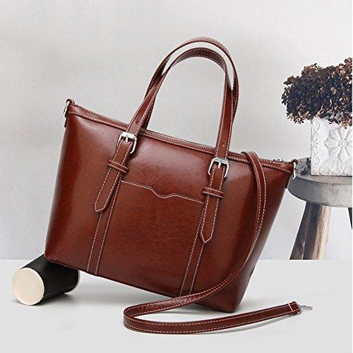 Women's Purses and Handbags Stylish Ladies Designer Satchel Top-handle Tote Shoulder Bags,QUEENTOO(A-Brown) by QUEENTOO (Image #1)