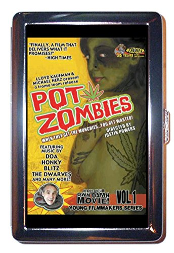 Pot-Zombies-Marijuana-Cult-Poster-Stainless-Steel-ID-or-Cigarettes-Case-King-Size-or-100mm