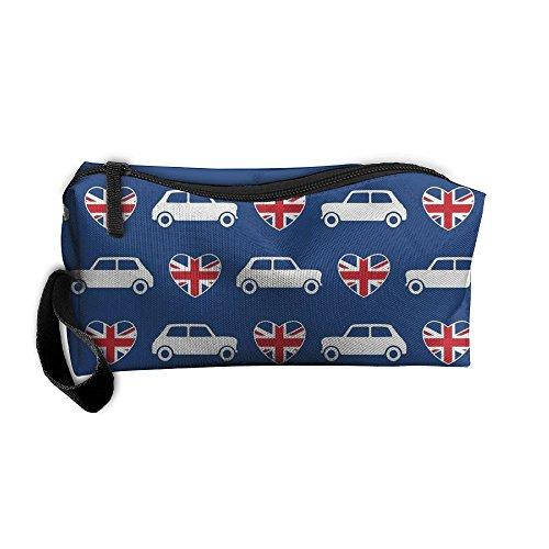 Mini Cooper Pouch Makeup Portable Travel Toiletry Organizer Bag With Zipper (Souvenir Cooper Mini)