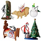 The Nightmare Before Christmas Trading Figure Set is sure to bring joy to any fan. This 4 Piece Set features Welcome to Christmas Town, It's a Dream World, Snowman Jack and Jack with Vampire Teddy. Each figure is specific to your favorite scenes in t...