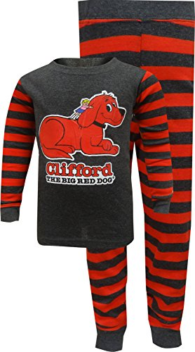 Clifford Boys' Toddler Bookjamas, red, 4T