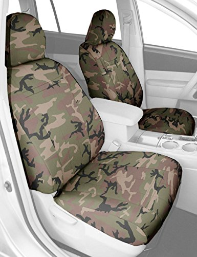 CalTrend Front Bucket Custom Fit Seat Cover for Select Ford Bronco Models - Camouflage (Retro) (91 Ford Bronco Camo Bucket Seats compare prices)