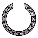 Baoblaze Hard PVC Guitar Circle Sound Hole Rosette Inlay for Acoustic Guitars Decal