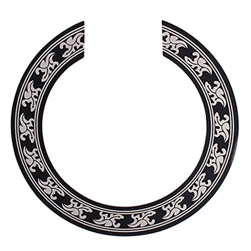 Guitar Rosette - MonkeyJack Acoustic Classical Guitar Rosette Inlaid Sound Hole Circle Decal Decoration
