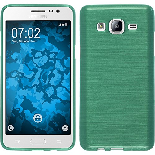 - Silicone Case for Samsung Galaxy On5 - brushed green - Cover PhoneNatic + protective foils