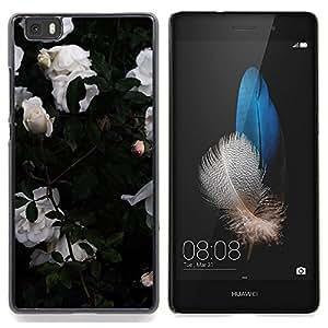 - White Roses Garden Bush Flowers - - Monedero pared Design Premium cuero del tir???¡¯???€????€????????????