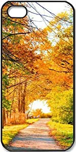 Autumn Perfect View Landscape Scenery Road Trees Autumn Nature Trees Fall Foliage Case for iPhone 4 4s PC Material Black by ruishername