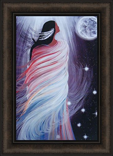 April Moon by Betty Albert 16x22 Native American Indian Woman Framed Art Print Picture
