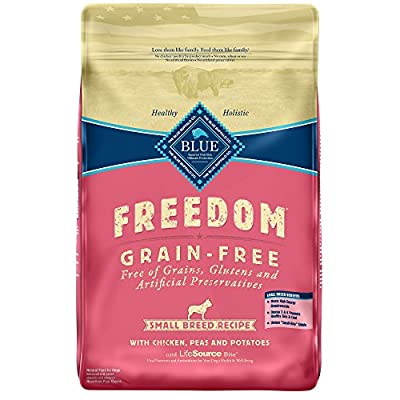 Blue Buffalo Freedom Grain Free Natural Adult Small Breed Dry Dog Food, Chicken