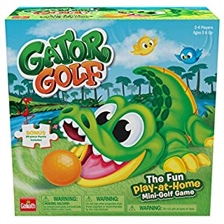 Gator Golf - Putt The Ball into The Gator's Mouth to Score Game - This Special Edition Includes a 24pc Puzzle by Goliath