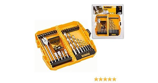 DeWalt DT71501-QZ Juego de 56 piezas en estuche tipo Tough Case para taladrar y atornillar, brocas metal HSS-G: 4.5 x 80: Amazon.es: Bricolaje y herramientas