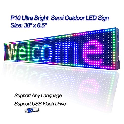 Led Sign Programmable Board,P10 SMD RGB Full Color Ultra Bright Scrolling Message Semi Outdoor Indoor Display Module 38