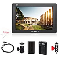 Feelworld 7 Inch On-Camera Field Monitor With Full HD IPS Screen HDMI 4K UHD Input and Output for Canon Nikon DSLR Camera with F550 Battery & Charger FH7