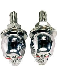 Custom Accessories 16226 Chrome Skull Style License Plate Fastener