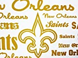 New Orleans Saints 100% Polyester (FLAT SHEET ONLY) Size TWIN Boys Girls Kids Bedding