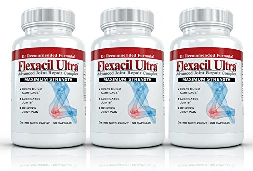 Flexacil ultra 3 bottles 60 caps each the most for Fish oil joints