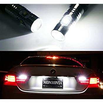 iJDMTOY (2) Super Bright Xenon White Error Free LED Backup Reverse Light Bulbs For 2014-2017 BMW 4 Series 420i 428i 435i M4 (F32 F33 F36 F82)