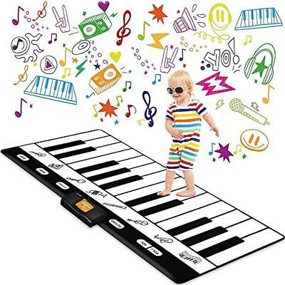 Play22 Keyboard Playmat 71' - 24 Keys Piano Play Mat - Piano Mat has Record,...