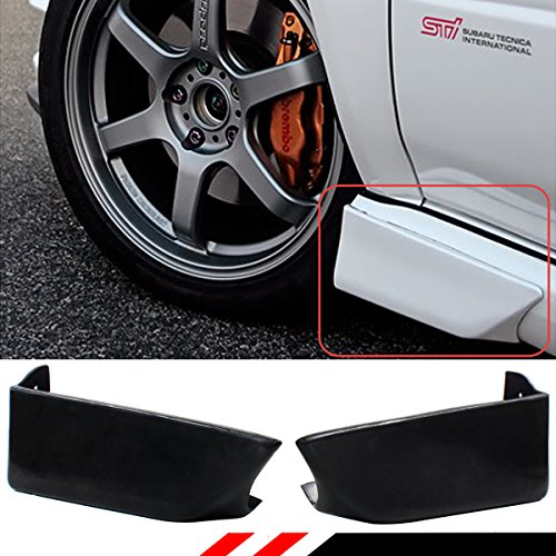 FOR 2002-2007 IMPREZA WRX STI GD FRONT ADD-ON SIDE SKIRT AERO GUARD STRAKE SPATS 2PC