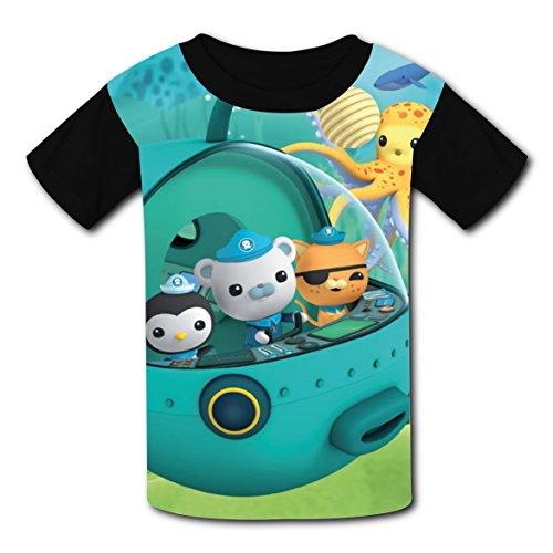 Kwazii Octonauts Costume (Hevilcat Octonauts_Poster Peso T-shirts for Kids Tee Shirt Tops Costume M)