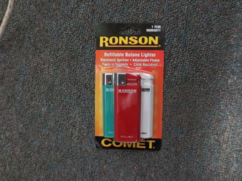 Ronson Comet Refillable Lighter Assorted