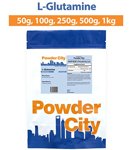 Powder City Glutamine Supplement (L-Glutamine) (250 Grams)